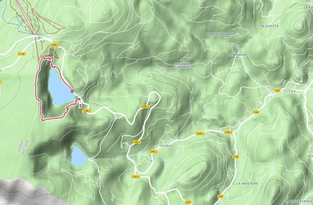 Wandelroute Lac Blanc