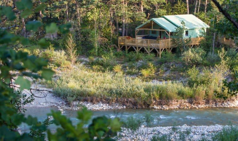 Camping L Hirondelle Drome lodgetent huren 768x455