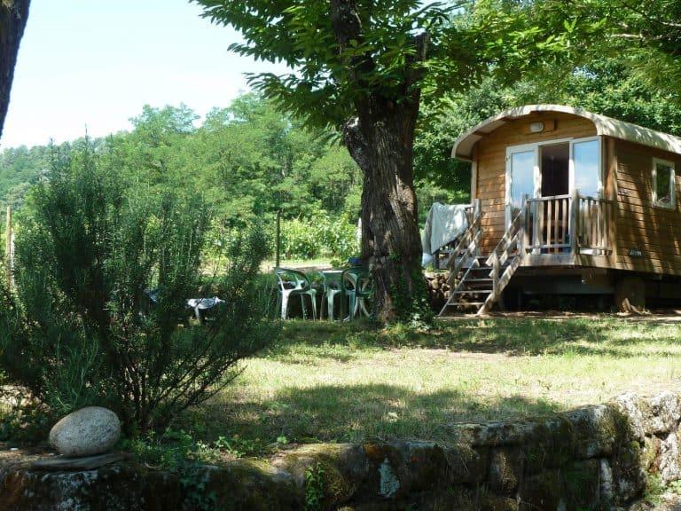 Camping Les Cruses Pipowagen huren Ardeche 768x576