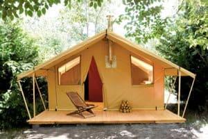 Safaritent huren op een camping
