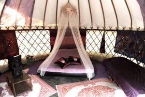 Yurt huren op een camping