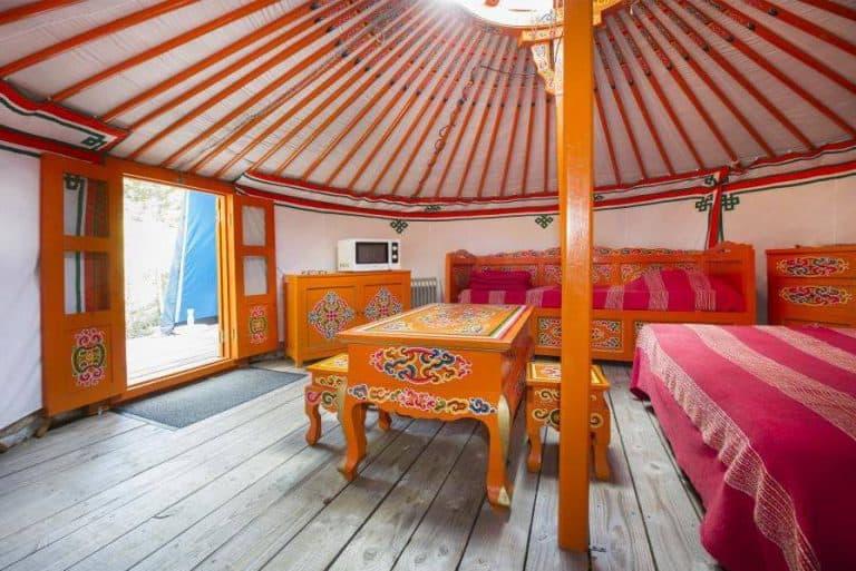 Camping Du Pont De Braye yurt huren 768x513