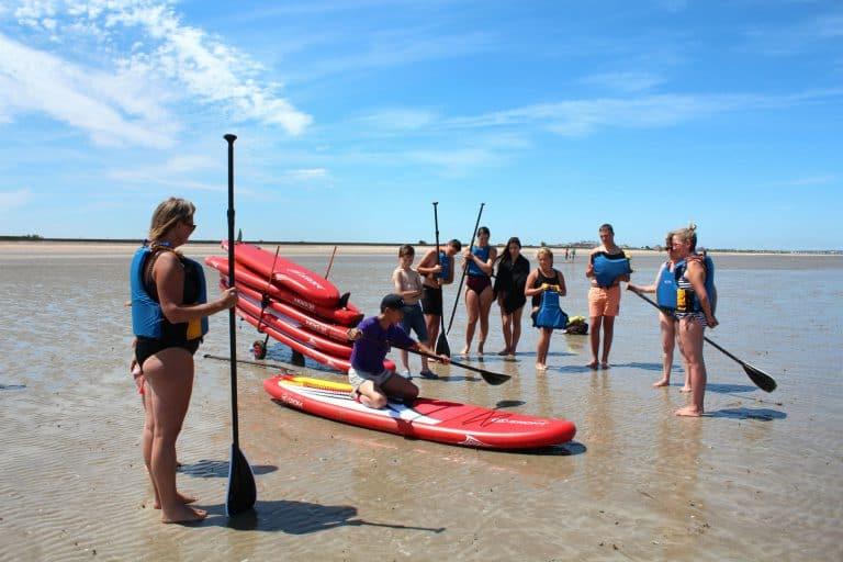 Camping Le Cormoran paddle board 768x512